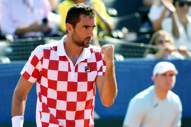 Croatia take 2-0 lead over USA in Davis Cup semi-final