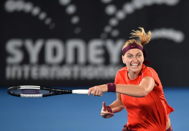 Kvitova blasts past Kerber and into Sydney semis