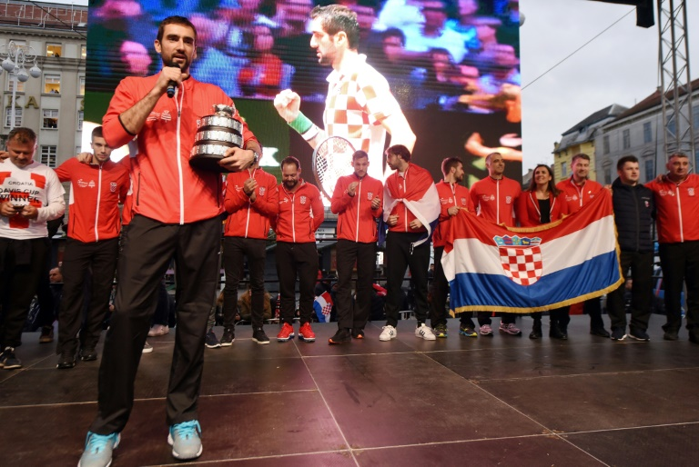 Croatia's Davis Cup tennis heroes welcomed home