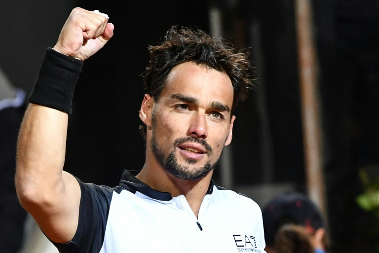 Home hope Fognini sweeps aside Tsonga to advance in Rome