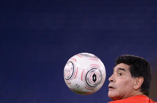 Maradona à Zagreb pour la finale Argentine-Croatie — Coupe Davis