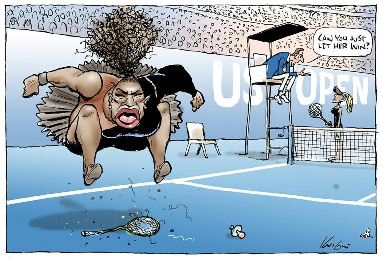 Un journal australien republie une caricature controversée de Serena Williams