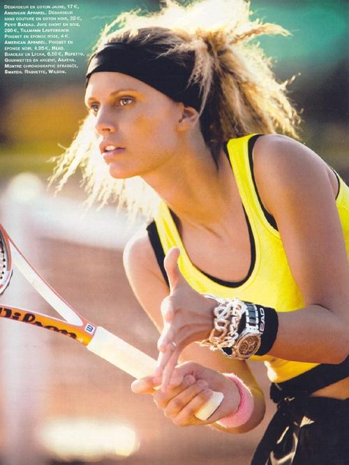 Tennis, emmanuelle edon, shooting