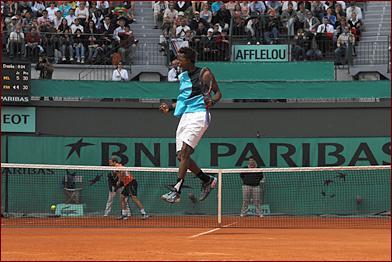 Tennis, gaël monfils, roland garros 2007
