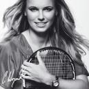 Tennis, Caroline Wozniacki, noir et blanc.