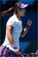 Na Li, 1/2 finale de l'Open d'Australie 2013.